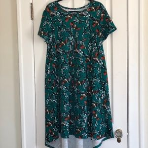 Lularoe Textured Feather Printed Carly